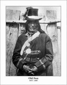 Chief Iron Shield, Chief Running Rabbit, Chief Old Sun (d.1898)