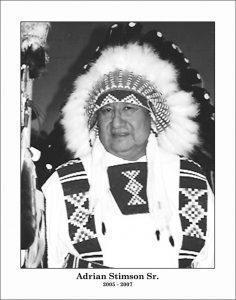 Chief: Adrian Stimson Sr.